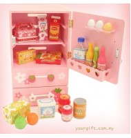 Mother Garden Strawberry Single Door Refrigerator Wooden Toys